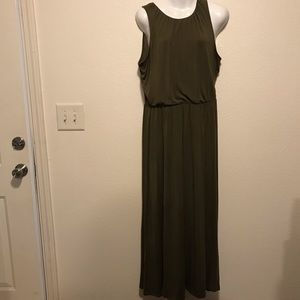 Old Navy Olive Green Sleeveless Maxi Dress Size L